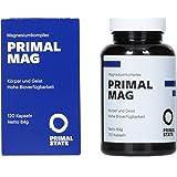 Magnesium PRIMAL MAG (Pur und organisch | Magnesiumcitrat | Magnesium Bisglycinat) - 120 Kapseln