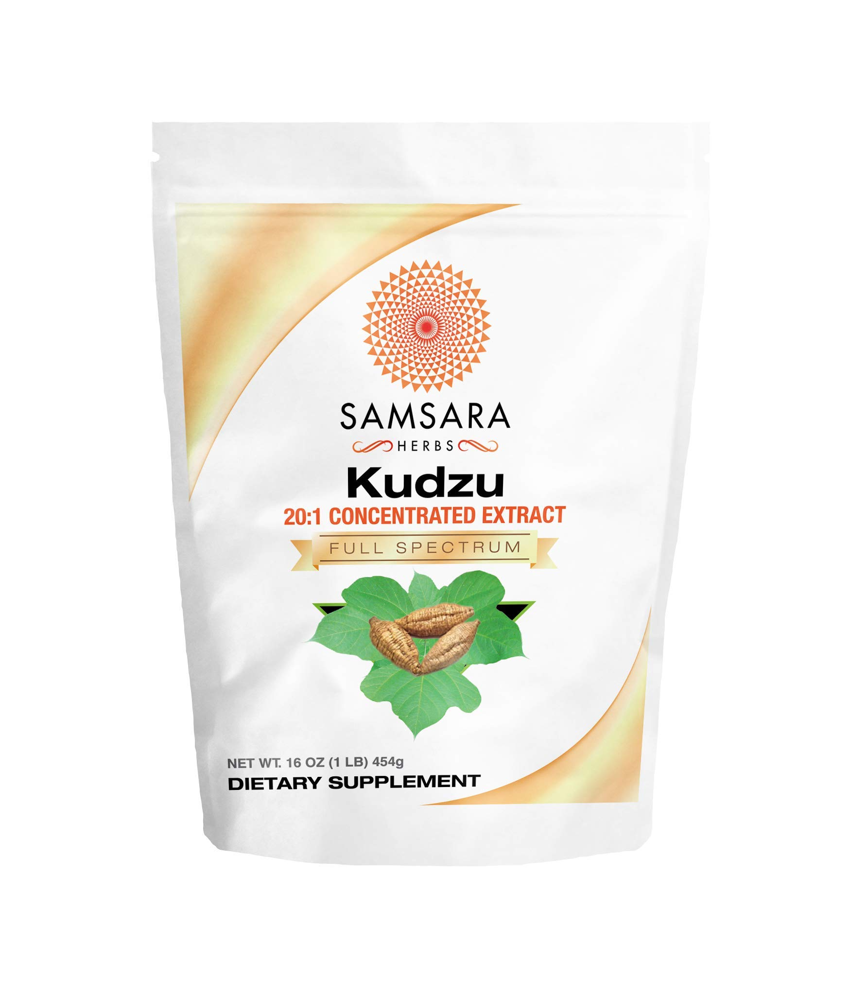 Samsara Herbs Kudzu Root Extract Powder (16oz/454g) 20:1 Concentrated Extract