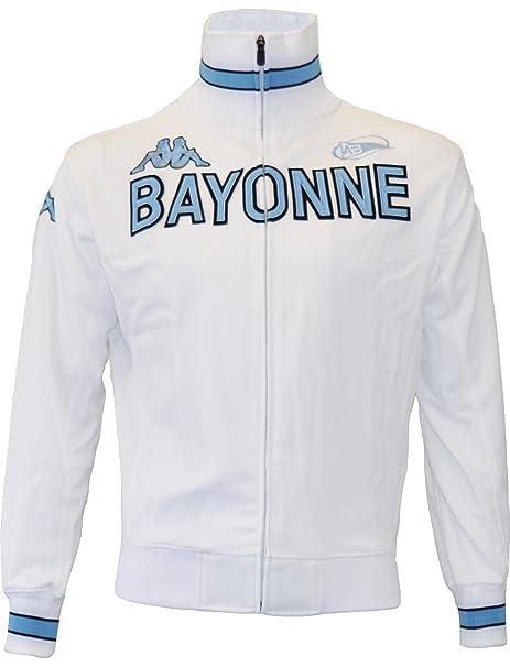 Kappa: chaqueta con cremallera para hombre, colección oficial del Aviron Bayonnais.