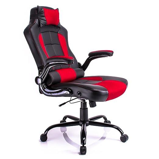 28 opinioni per Pelle Aminiture schienale alto PU adagia correndo sedia di parte girevole