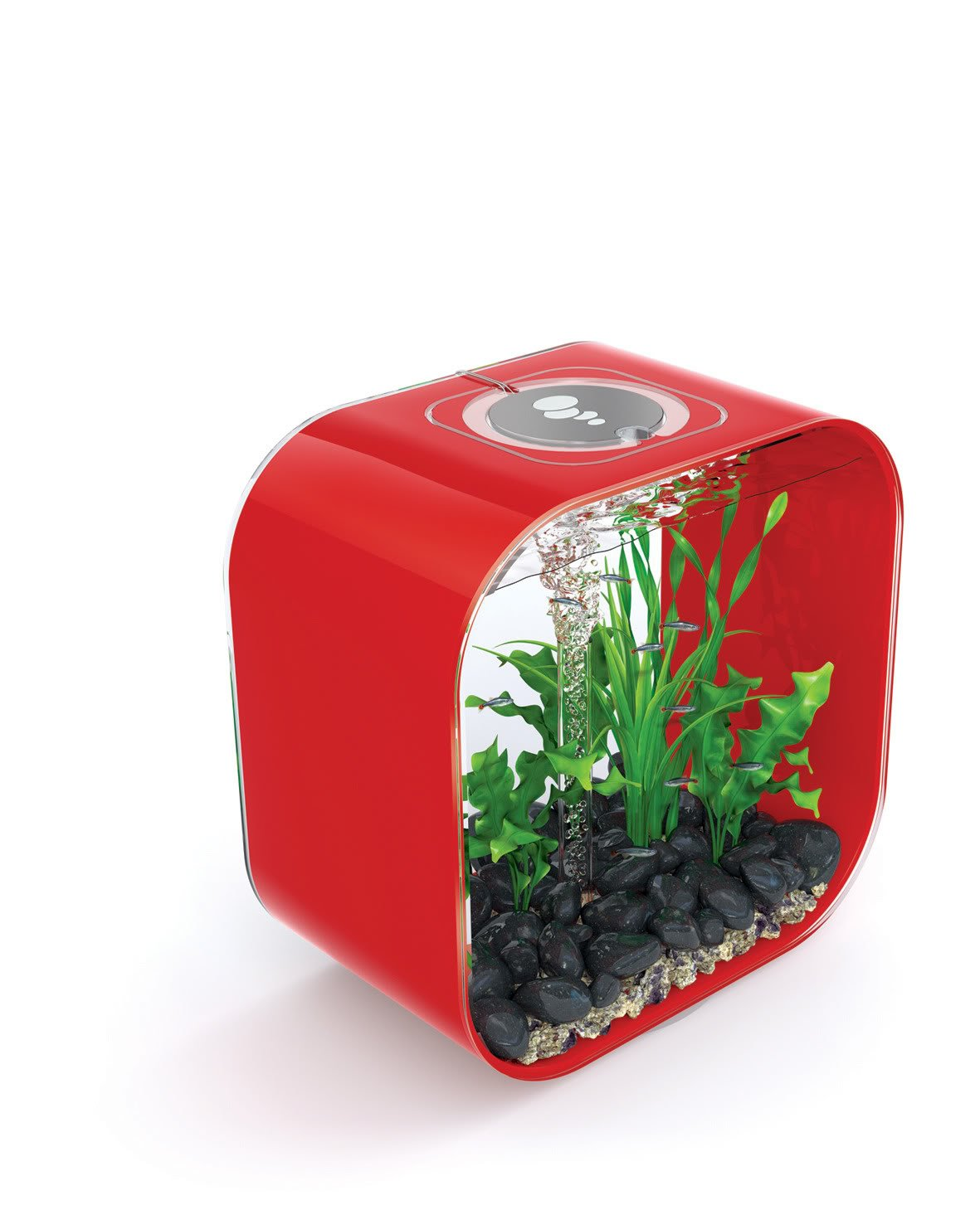 Red biOrb Life Square 30 Cold Water, Red, Intelligent 24hr LED Light