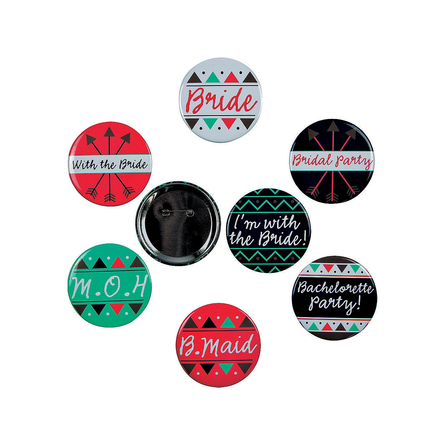 Bachelorette Party Buttons (1 Dozen) by Fun Express
