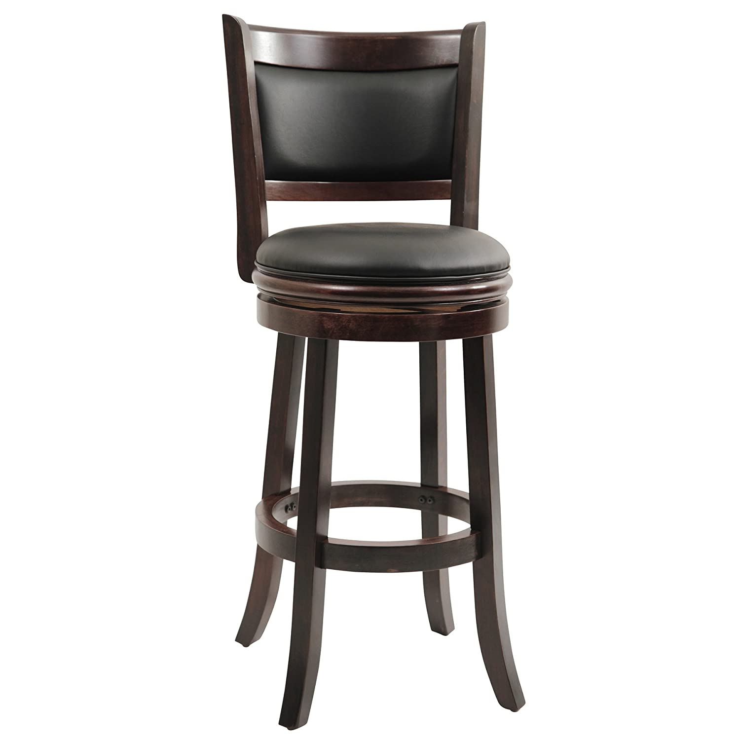Amazon.com: Boraam 48829 Augusta Bar Height Swivel Stool, 29-Inch ...
