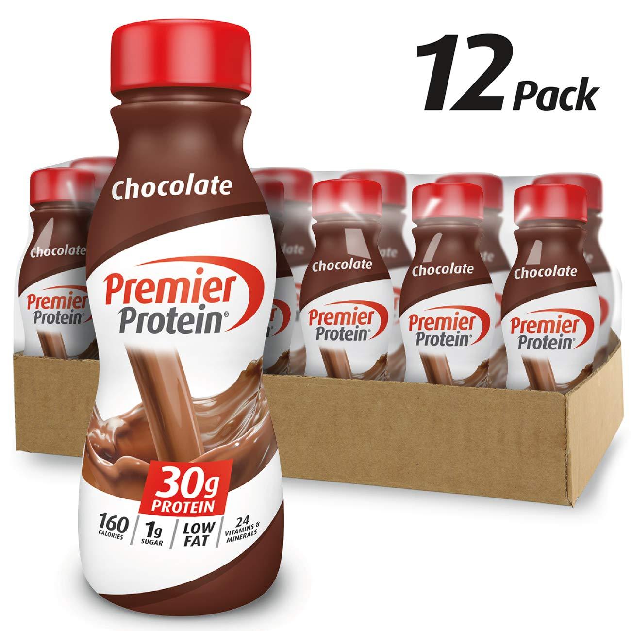 Premier Protein 30g Protein Shake, Chocolate, 11.5 fl oz Shake, (12 count)