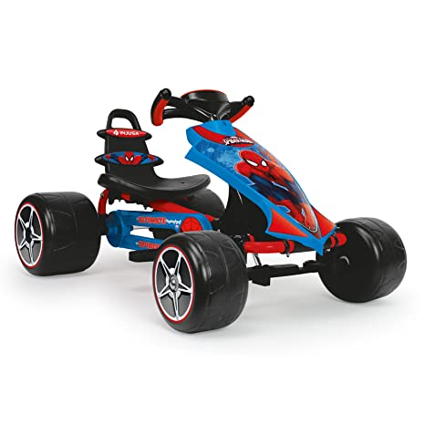 INJUSA 41260 The Ultimate Spiderman, Go Kart a Pedales, Color Azul