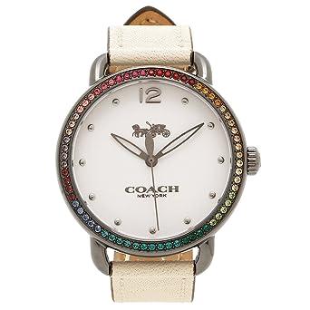 8364af8d7f7c Amazon | [コーチ] 腕時計 レディース COACH 14502888 ホワイト シルバー ...