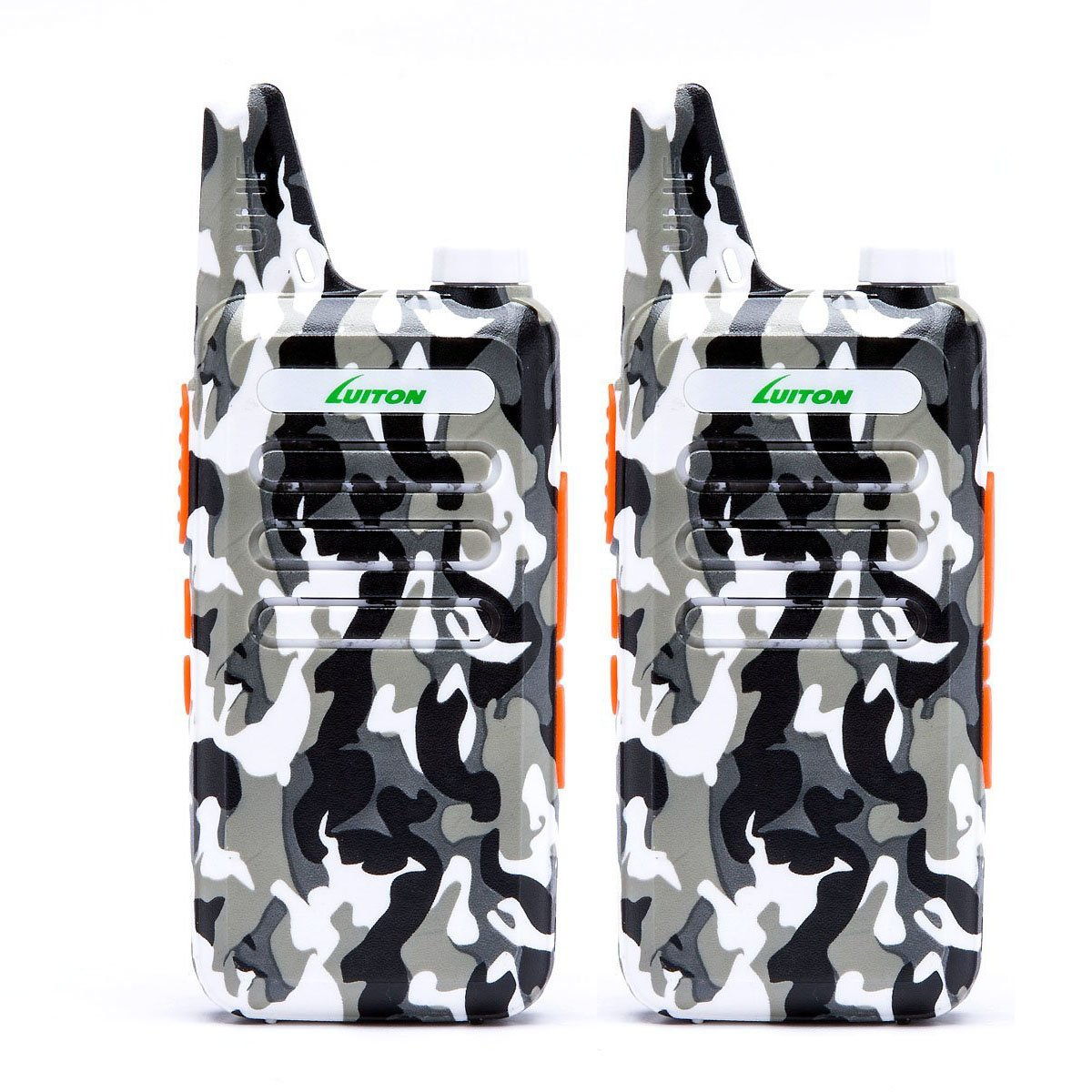 2 Way Radio Walkie Talkies Long Range for Outdoor Camping Hiking Hunting Activities LT-316 Military Camo Mini Uhf Rechargeable Two-Way Radio 5-10 Miles Back to School Ideal Gifts by LUITON (2 Pack) by LUITON (Image #1)