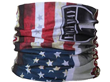 7db5a7611b6c Multifonction Foulard Écharpe tube de cou États Unis USA US étoiles et  rayures drapeau Route 66
