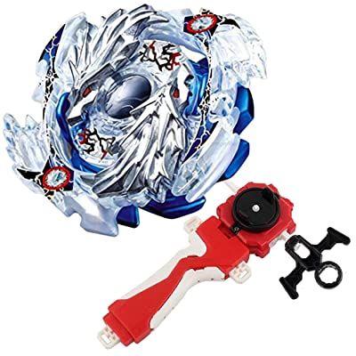Bey Burst Evolution Turbo Battling Top Blade God Bey & Lr Launcher Grip Spryzen Starter Set B-66 Booster Lost Longinus Luinor.N.Sp Attack Gyro Battle Kit Gaming Tops Novelty Spinning Toy Gift for Boy: Toys & Games