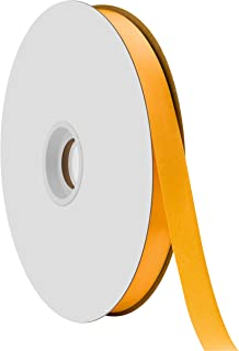 "product image for Offray Berwick 5/8"" Single Face Satin Ribbon, Gold Yellow, 100 Yds"