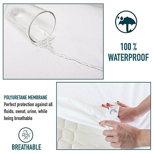 Dreamzie Protector de Colchón Impermeable (150 x 190/200 cm) - Cubre Colchón Transpirable: Amazon.es: Hogar