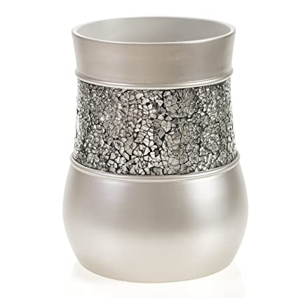 Delicieux Creative Scents Brushed Nickel Bathroom Trash Can (7.75u0026quot;x 7.75u0026quot;x  10u0027