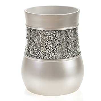 bathroom wastebasket. Creative Scents Brushed Nickel Bathroom Trash Can  7 75 quot x 10 Amazon com