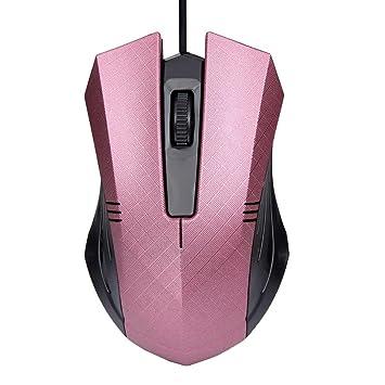 Ratón para juegos, yoyorule 1200 dpi USB Wired Optical Gaming ratón para PC, ordenador portátil, color rosa: Amazon.es: Electrónica