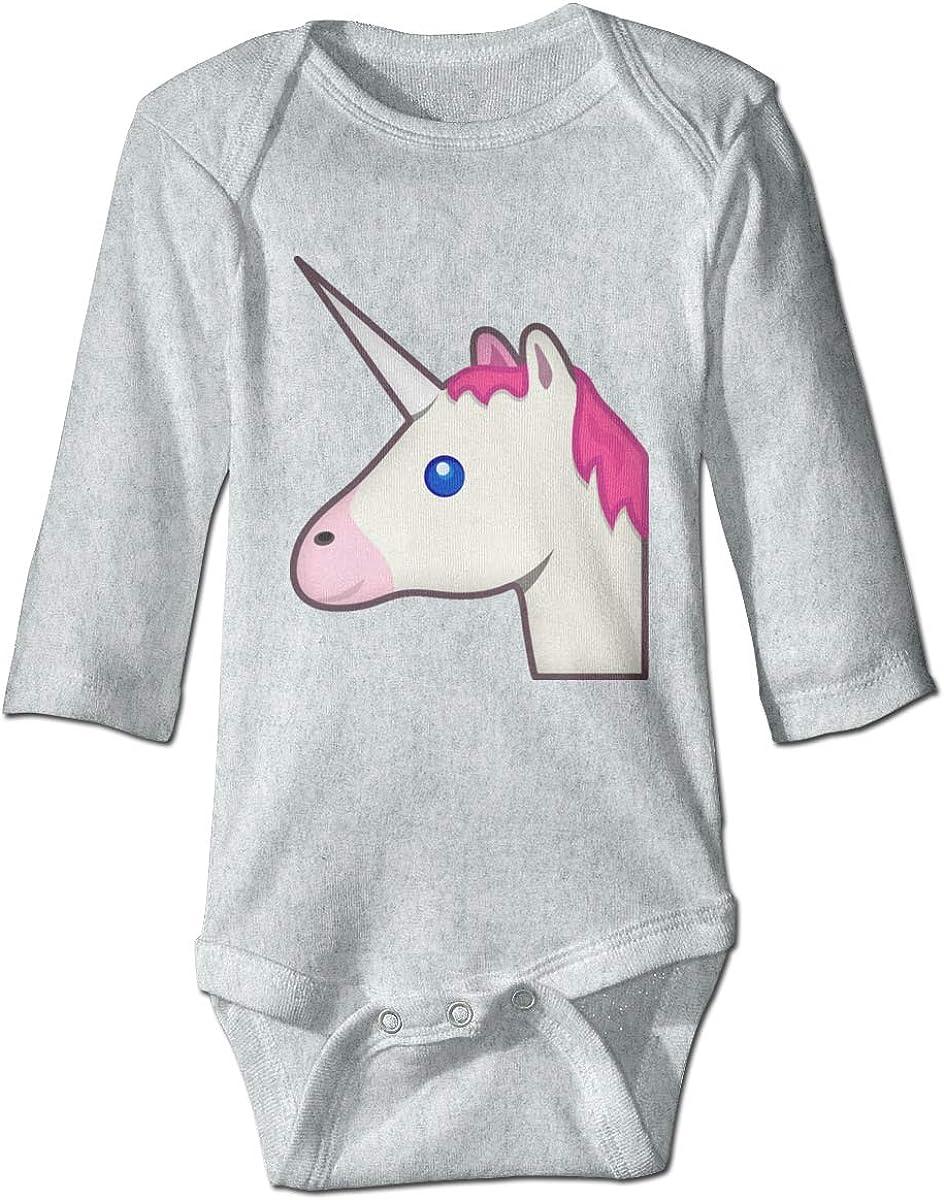Smooffly Babys Girls Boys Unicorn Emoji Long-Sleeve Bodysuits Playsuits