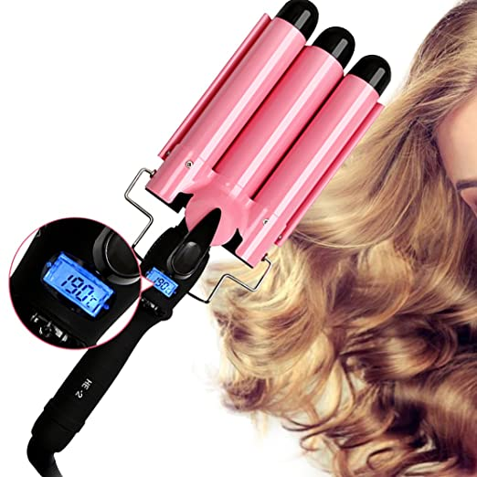 Hair Curler Hair Curling Iron Three Barrel Curling Iron Quick Heated Ceramic Curling Wand Professional Hair Styler Hair Waver Crimping Iron