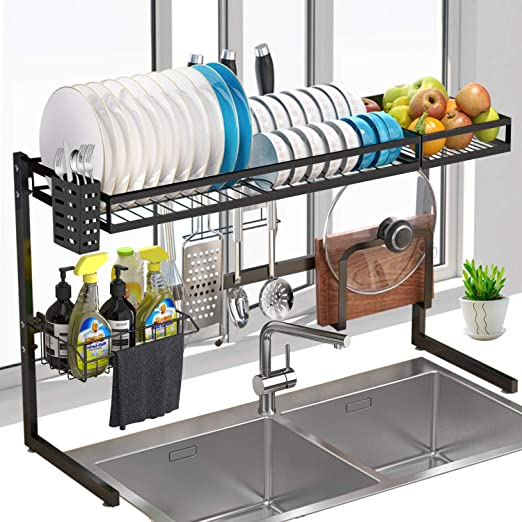 Amazon Com Over Sink Dish Rack G Ting 2tier Dish Drying Rack 34