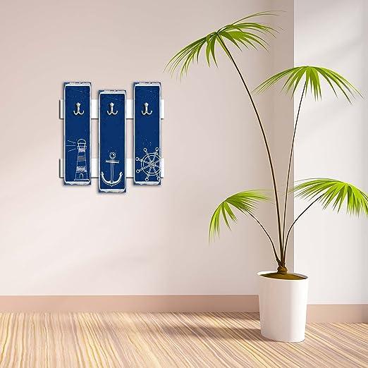 Gancho decorativo de pared 3 piezas de metal llavero soporte ...
