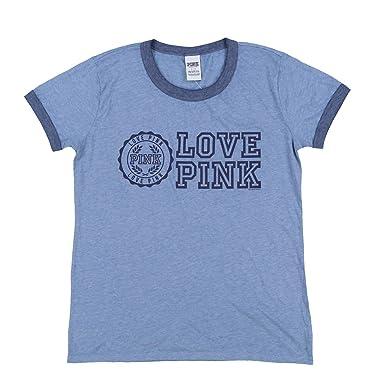 ea12a128c5631 Victoria's Secret Pink Short Sleeve Crew Neck T-Shirt (L, Heather ...