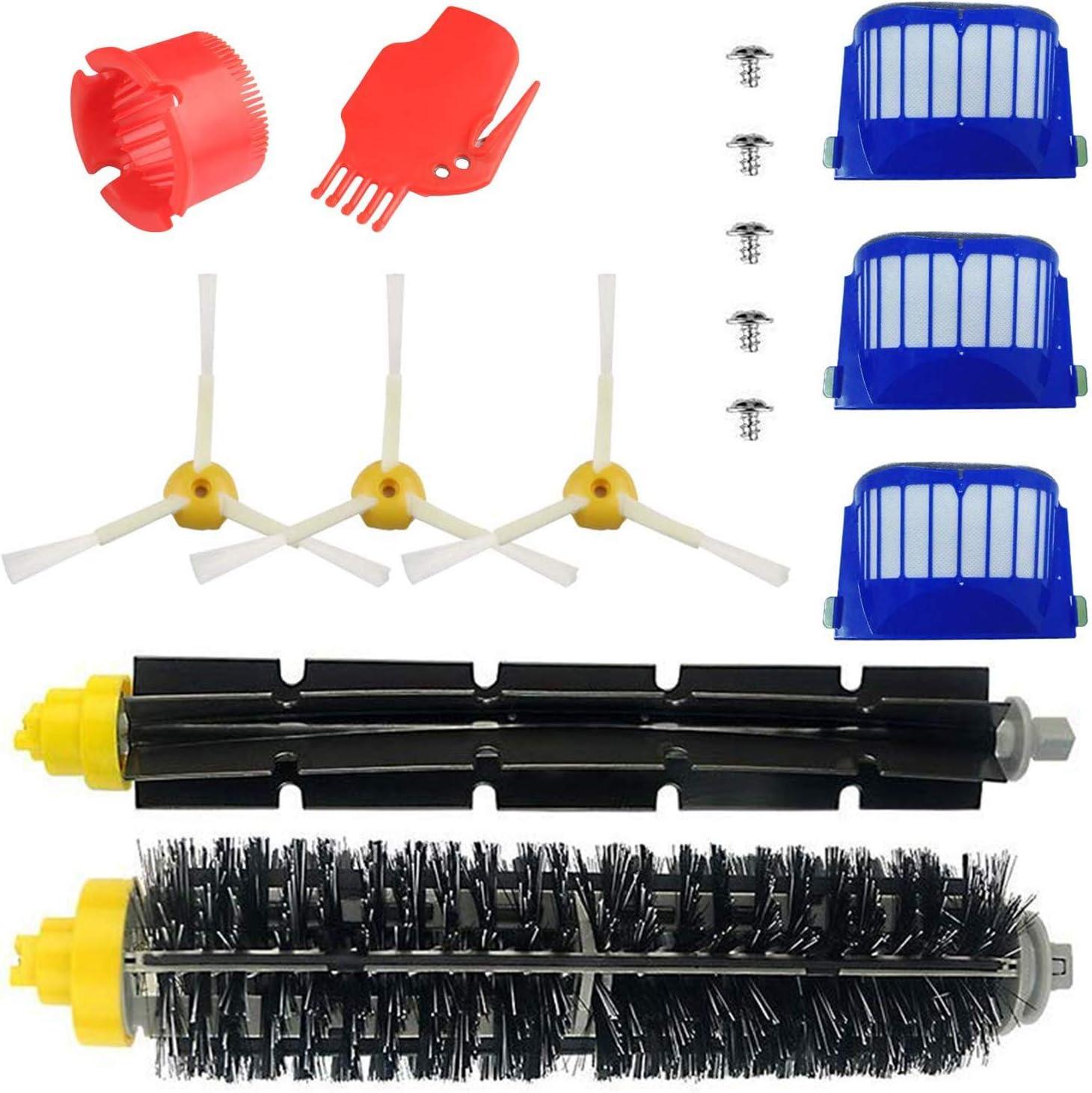 Blue Power Repuestos de Accesorios para Aspiradoras iRobot Roomba Serie 600 605 610 615 616 620 625 630 631 632 639 650 651 660 670 680 681 691 Kit Cepillos Recambios para Aspiradoras de Filter-15PCS