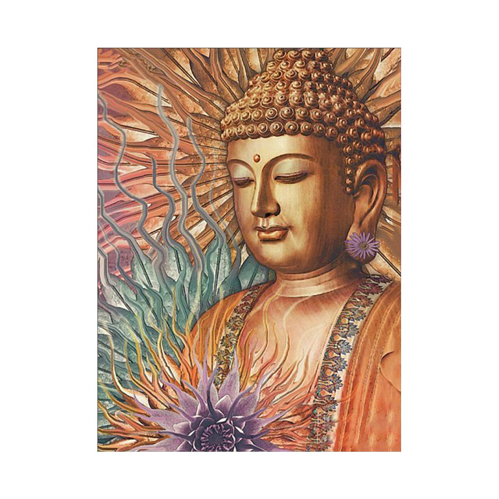 JAGENIE Buddha 5D Diamond Embroidery Painting DIY Painting Cross Stitch Home Decor Set 30 * 38cm