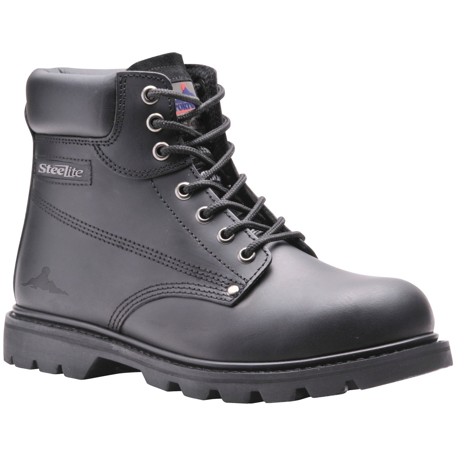 TALLA 42. Portwest FW16 - Boot welted 42/8 PAS, color Negro, talla 42