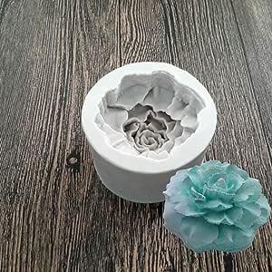 Día de la madre flores de clavel. Silicona Fondant molde hecho a mano jabón chocolate molde para tartas Decor molde sq339: Amazon.es: Hogar