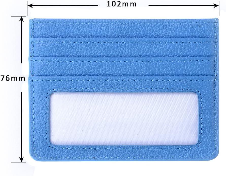 Credit Card Holder SHANSHUI RFID Blocking Credit Card Holder with ID Window Black-RFID