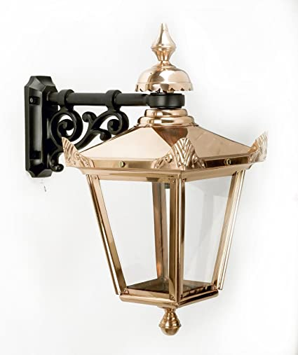 large traditional victorian top fix wall lantern with ornate cast