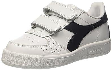 Diadora B Elite Jr, Sneaker Bas du Cou Mixte Enfant, Blanc Cassé (Bianco/Blu Profondo), 33 EU