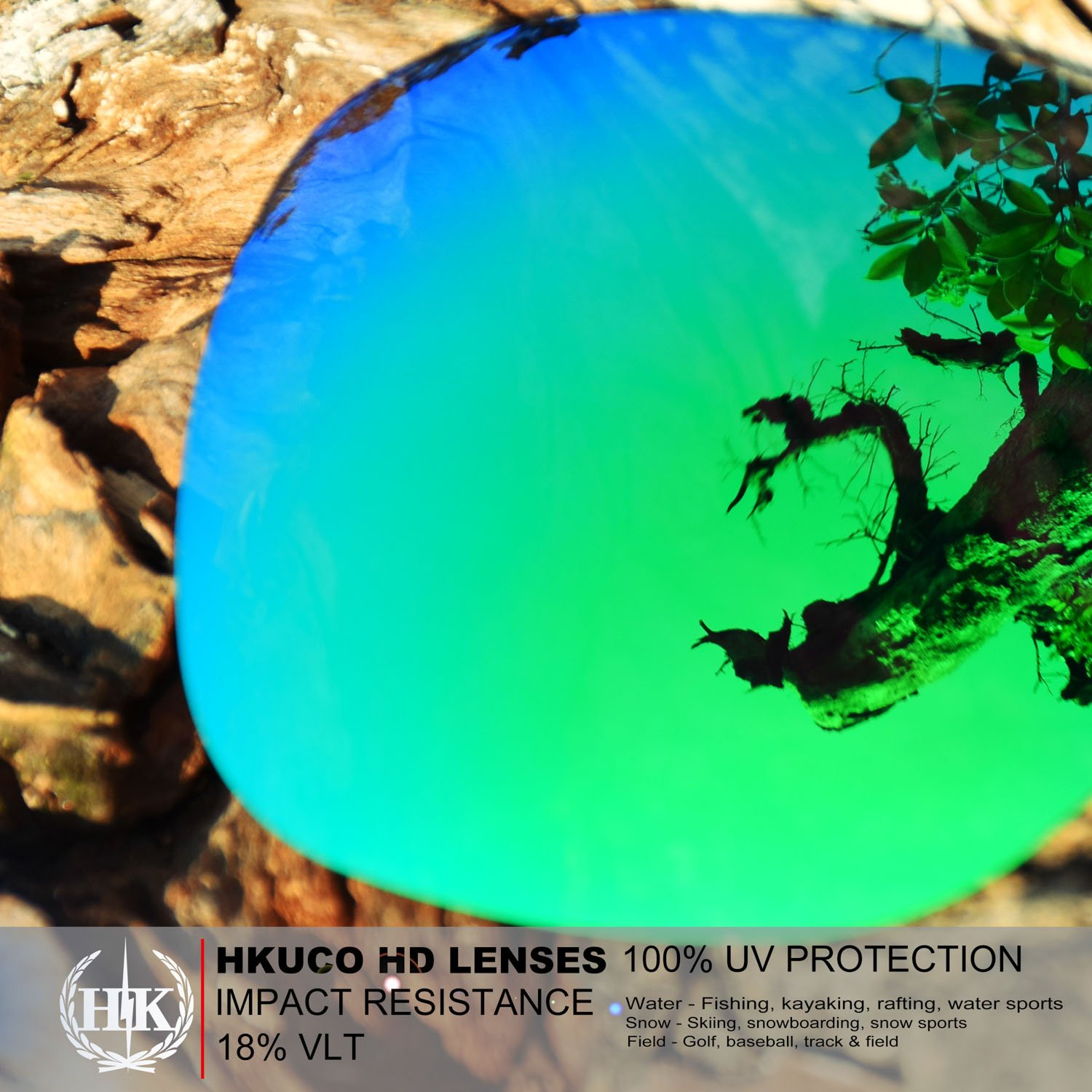 Hkuco Plus Mens Replacement Lenses For Costa Harpoon 2 pair