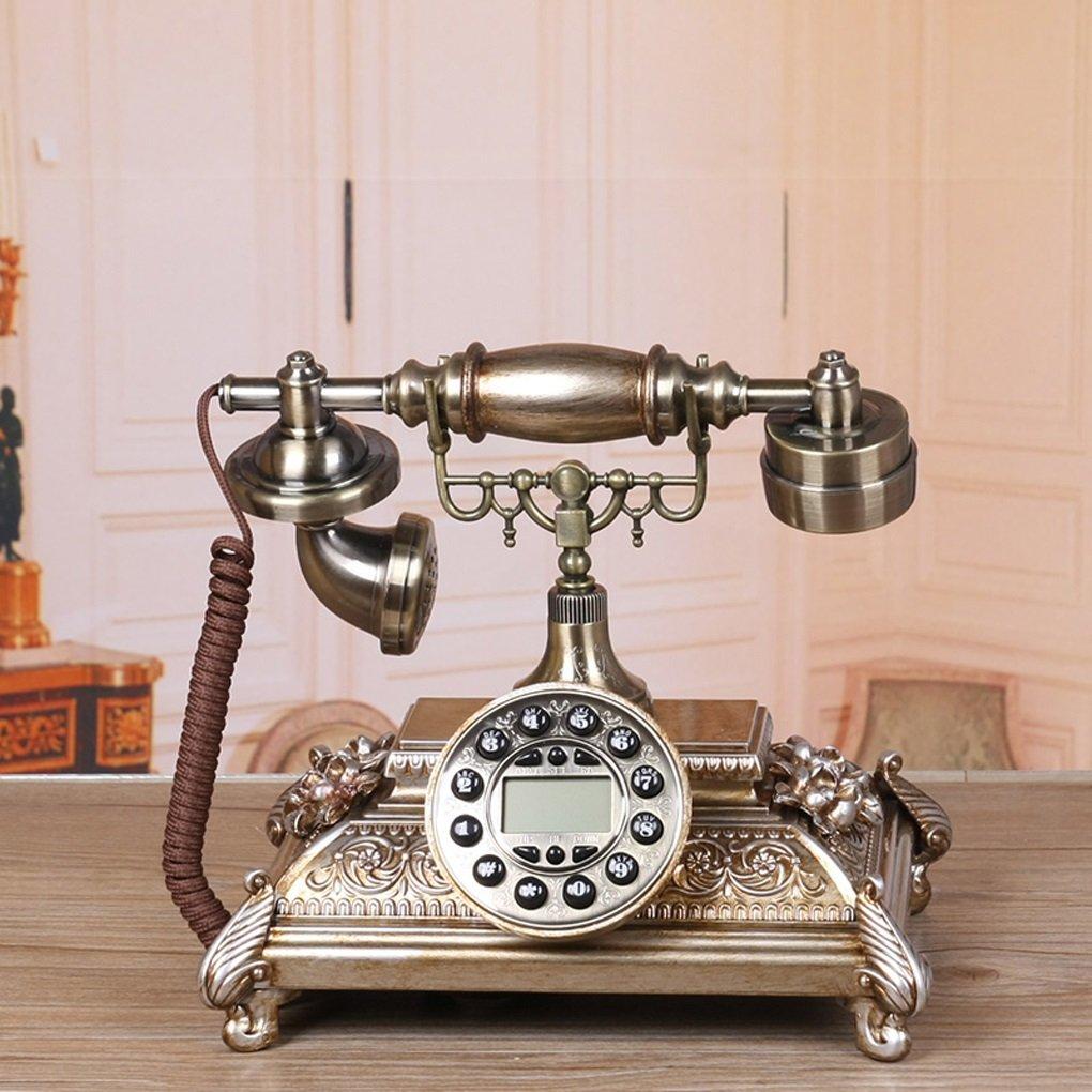 Edge To デジタル電話 ヨーロッパのアンティーク電話自宅のリビングルームのベッドルームの創造的なファッションヴィンテージレトロな固定電話固定電話 B07FFLRRXD