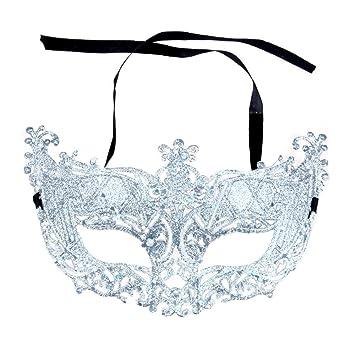 am besten verkaufen 60% Freigabe gutes Angebot Dosige Venezianische Maske, Maskenball Masken Maskerade Maske Masquerade  Maske Venedig Maske Damen 1 Stück (Weiß)