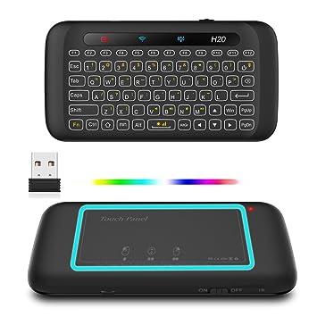 Mini teclado inalámbrico con ratón touchpad, un botón de encendido/apagado, sensor de gravedad (sensor G), ...