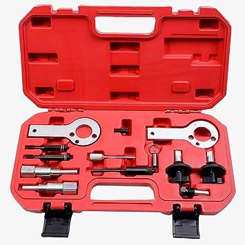 JOMAFA - Conjunto herramientas para calado de distribucion FIAT OPEL ALFA ROMEO LANCIA SUZUKI SAAB Y FORD 1.3, 1.9, 2.4 D, CDTI. JTD MULTIJET. Reglaje para puesta a punto: Amazon.es: Bricolaje y herramientas