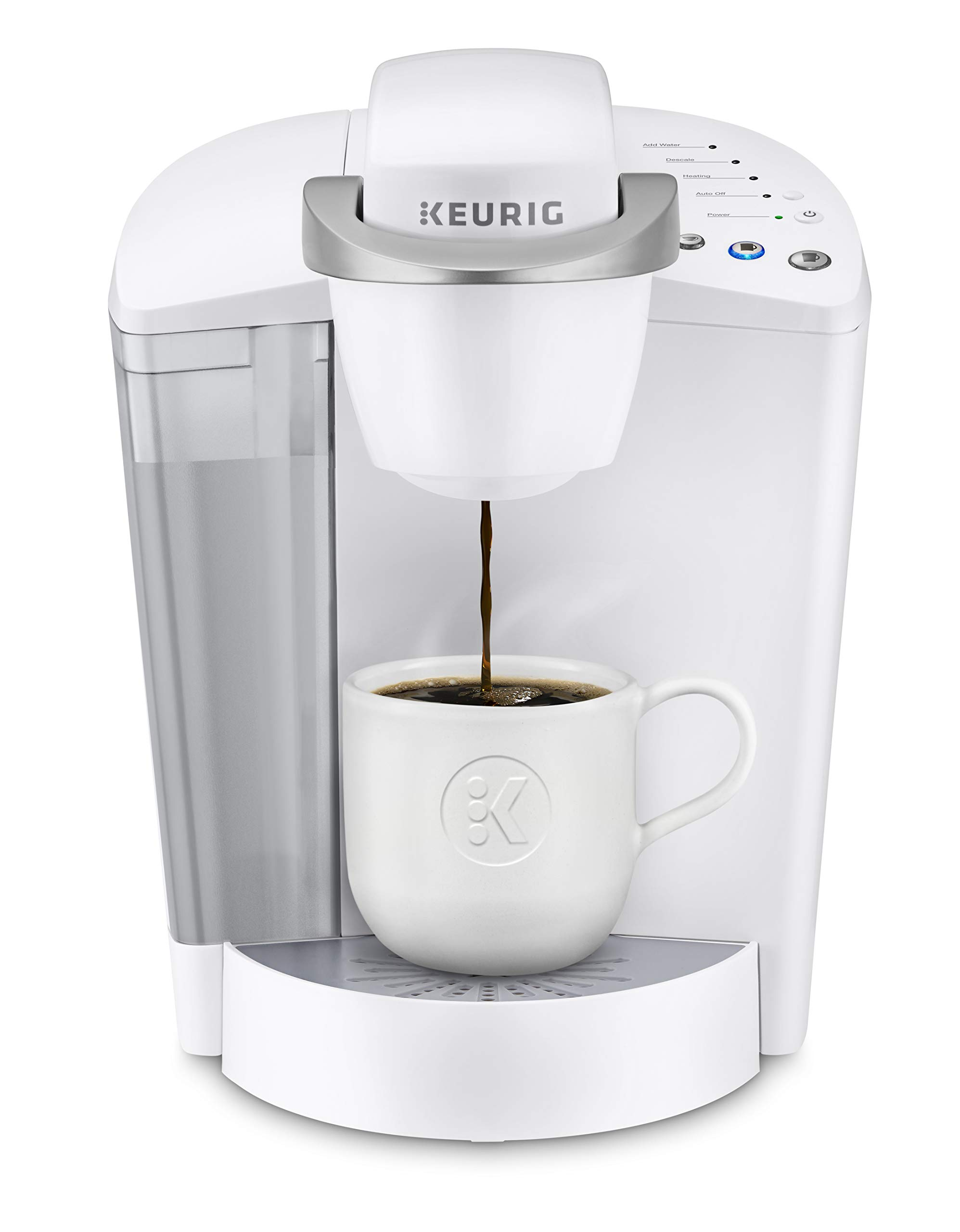 Keurig K-Classic Coffee Maker, Single Serve K-Cup Pod Coffee Brewer, 6 to 10 oz. Brew Sizes, White by Keurig