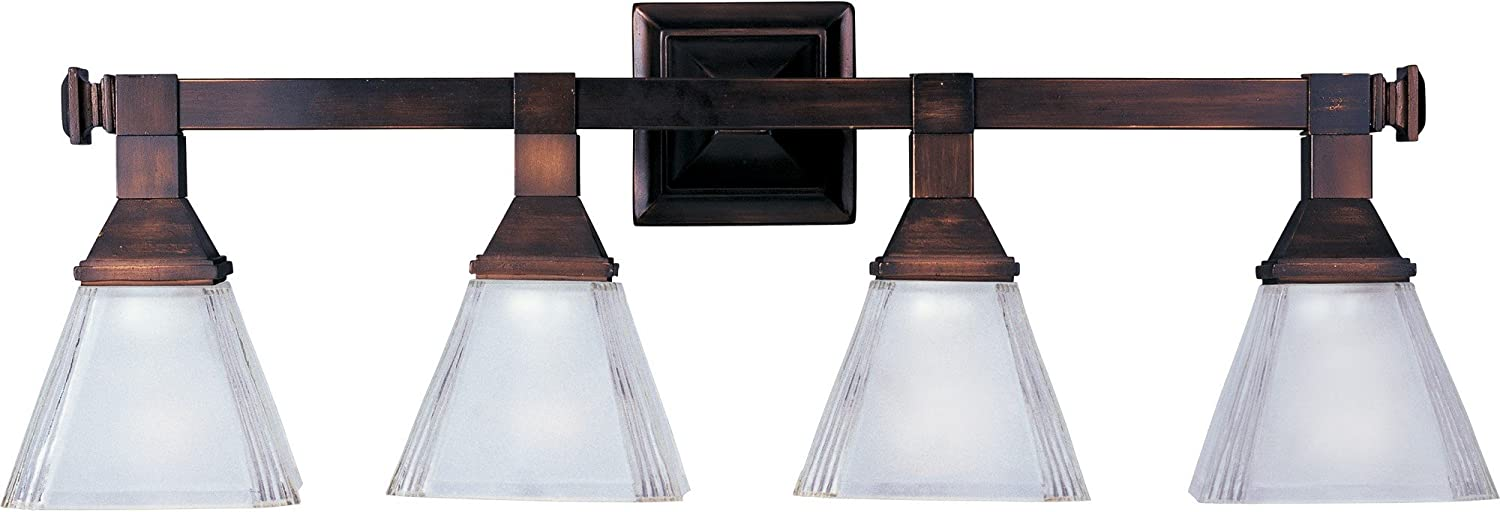 B000BG1VOW Maxim 11079FTOI Brentwood 4-Light Bath Vanity, Oil Rubbed Bronze Finish, Frosted Glass, MB Incandescent Incandescent Bulb , 15W Max., Damp Safety Rating, 3000K Color Temp, Opal Acrylic Shade Material, 950 Rated Lumens 71HbWM-yhyL