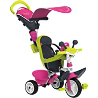 Smoby - 741201 - Tricycle Baby Driver Confort 2 - Tricycle Evolutif avec Roues Silencieuses - Dispositif Roue Libre + Verrouillage Guidon - Rose