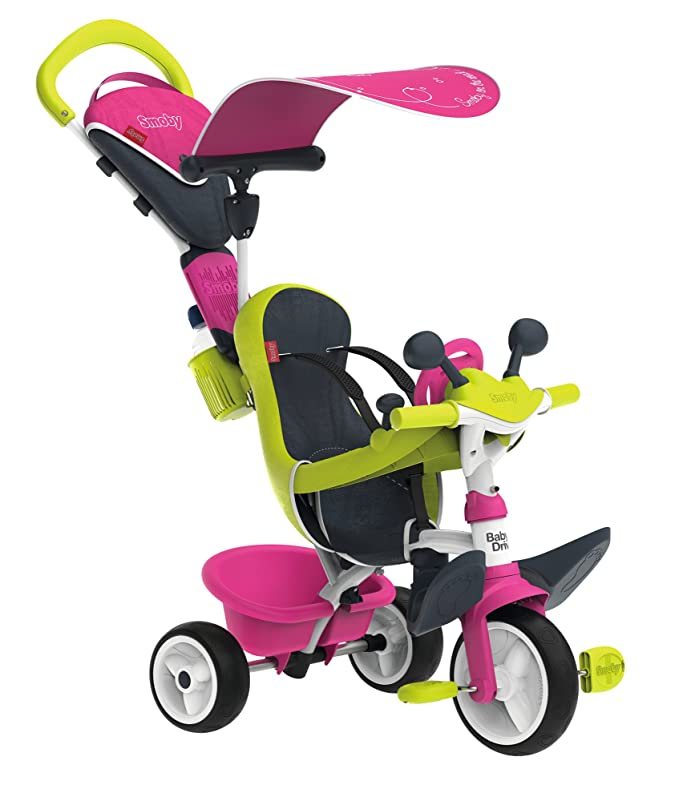 Smoby Baby Driver - Smoby Dreirad 4 in 1 Rosa