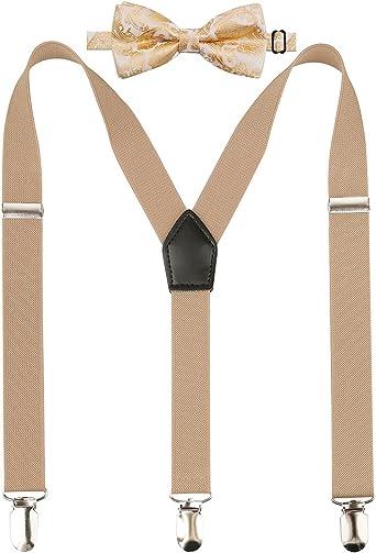 Alizeal - Conjunto de corbata y tirantes ajustables en forma de Y ...