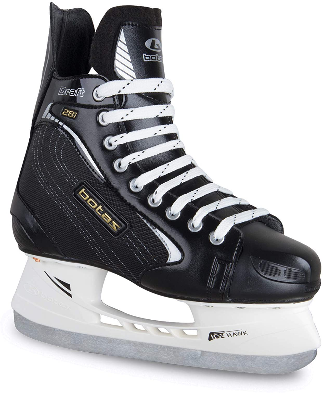 Czech Republic Draft 281 Mens Ice Hockey Skates Made in Europe | Color: Black Botas