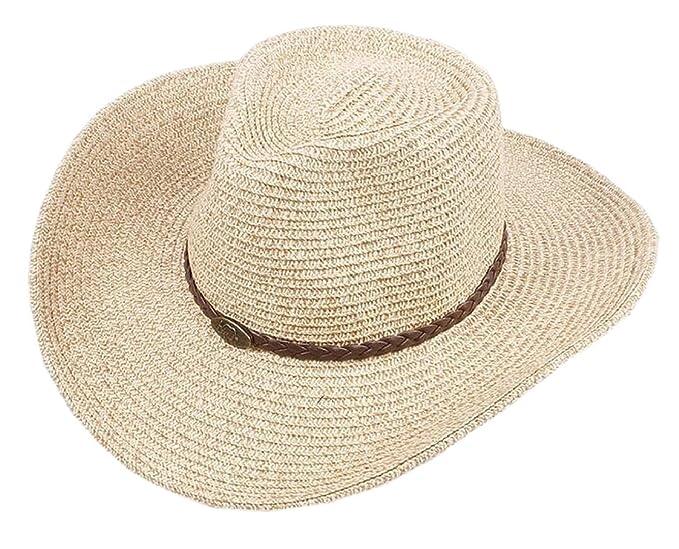 a1b4bccec Hokny TD Men Packable Summer Summer Straw Hat Wide Brim Beach Hat ...