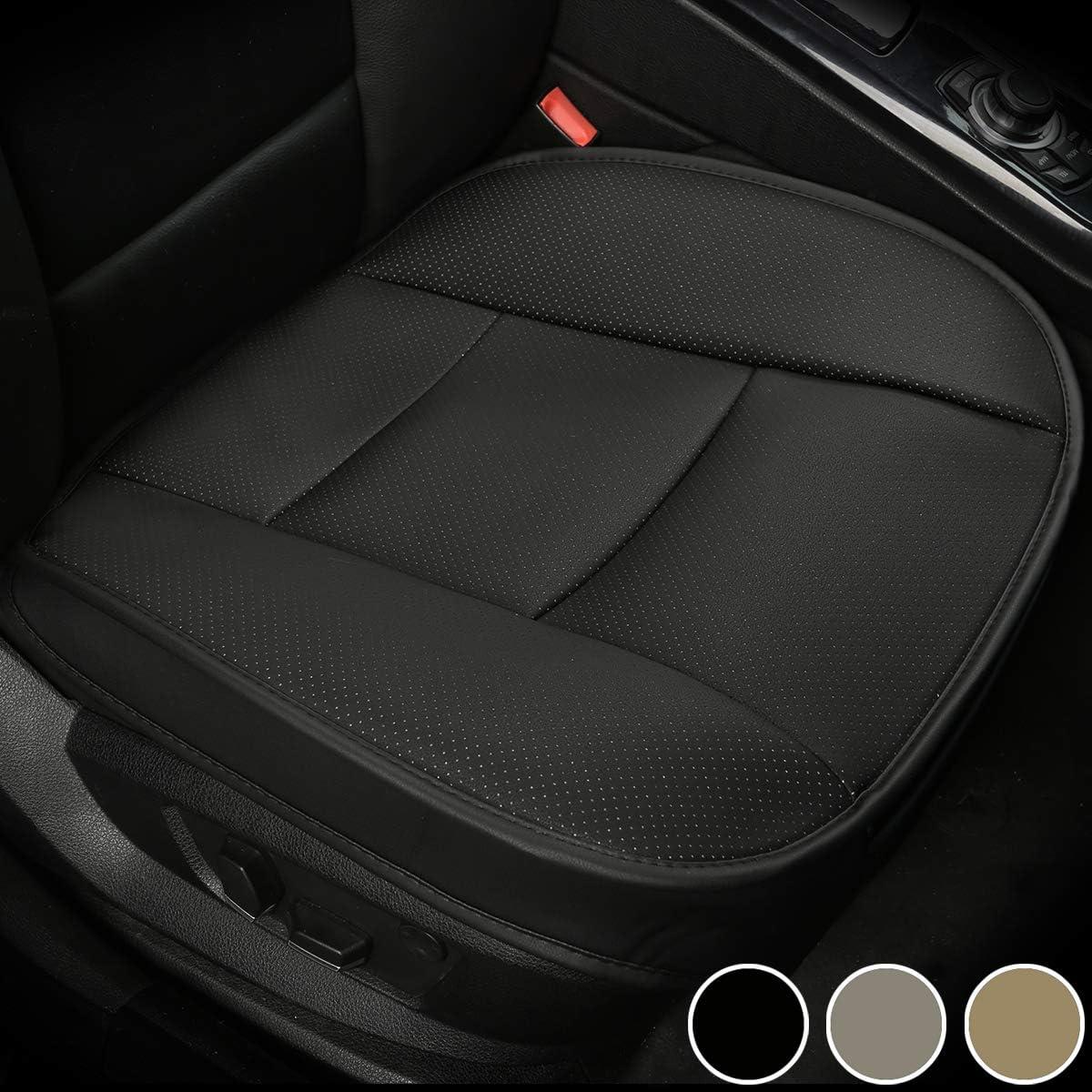 2 Pi/èces, Noir Car/Seat/Cover Design Enveloppant Big Ant Respirant Coussin/Siege Voiture Conducteur Couvre/Si/ège/Auto Tapis Voiture Housse de Siege en Cuir PU Charbon de Bambou