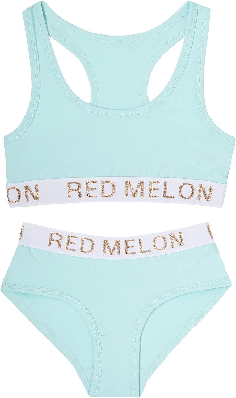 Metzuyan Girls Crop Top Training First Bra /& Knickers Glitter Brief Set Kids Cotton Rich Racer Back Sparkle Band