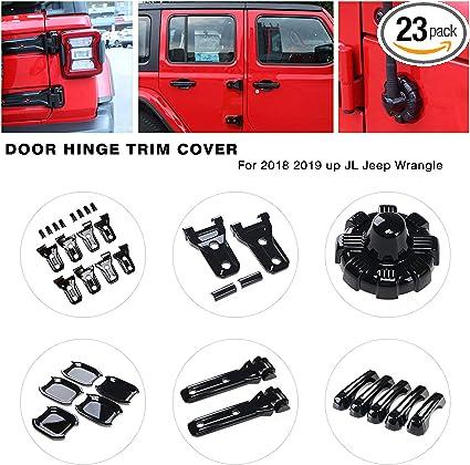YOCTM Door Lock Decoration Cover Sticker for Suzuki Jimny 2019 2020 Door Lock Switches Cover Trim Auto Parts Accessories Silver