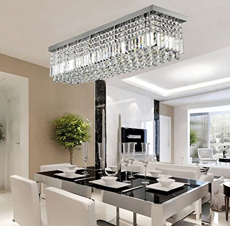 Siljoy rectangular raindrop crystal chandelier lighting modern siljoy rectangular raindrop crystal chandelier lighting modern ceiling lights flush mount fixture l315 x aloadofball Gallery
