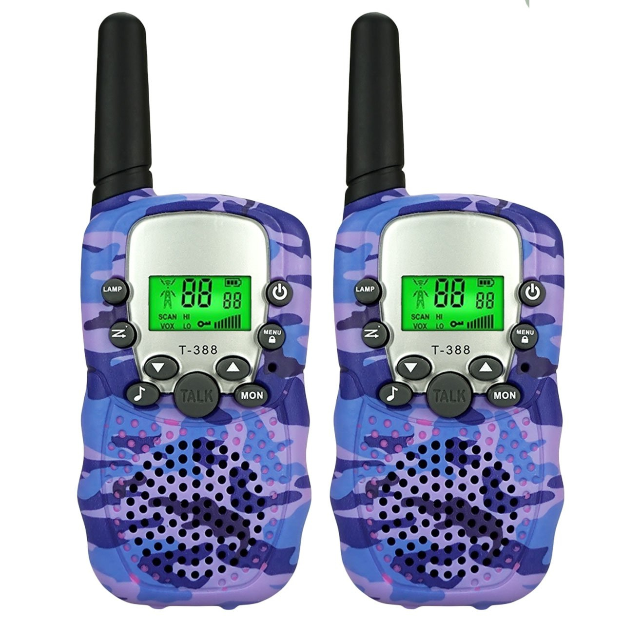 TISY Toys for 3-12 Year Old Girls, Two Way Radio Long Range for Kids Birthday Presents Gifts for 3-12 Year Old Girls Boys Purple TSUSDJ06