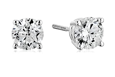 0f08878c1 Amazon.com: Certified 14k White Gold Diamond with Screw Back and Post Stud  Earrings (1 1/2cttw, J-K Color, I1-I2 Clarity): Jewelry