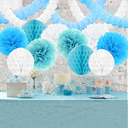 Bright Honeycombs x 3 Purple Blue and Pink Party Decoration