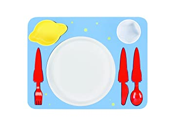 High Quality Dinnerware Set For Kids   Entertaining Complete Meal Dining Set For  Toddlers   Space Themed Rockets